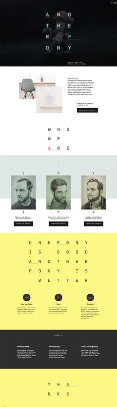 Unique Web Design, Another Pony via @letmeshock #Web #Design #Typography