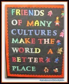 Global Bulletin Board Ideas | Multicultural Bulletin Board ...