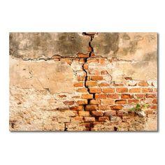 "Leinwandbild ""Broken Wall"", Fotodruck East Urban Home Painting Prints, Wall Art Prints, Canvas Prints, Frames On Wall, Framed Wall Art, Break Wall, African Art Paintings, Affordable Wall Art, Wall Drawing"