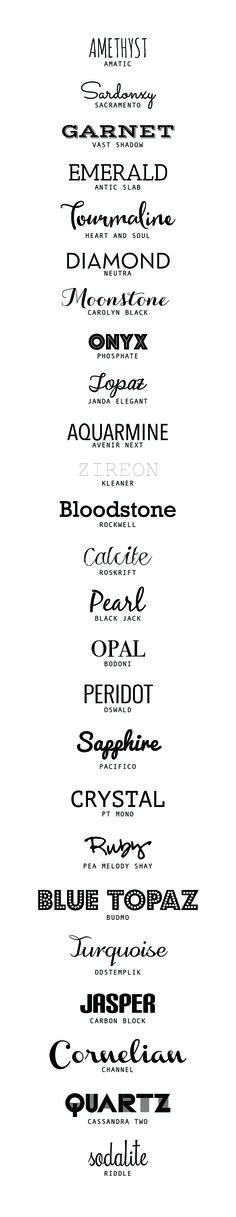 25 of the best Free Fonts | desireedreszer.com