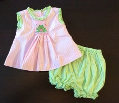Anavini-Hand-Smocked-dress-and-bloomers-6-months-pink-green-w-frog