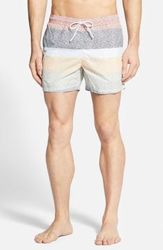 Lacoste Stripe Print Poplin Swim Trunks available at Summer Clothes, Summer Outfits, Ugly Clothes, Ugly Outfits, Sewing Shorts, Male Fashion, Male Body, Swim Trunks, Stripe Print