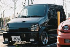 bosozoku.. you'll never wish to see its back Suzuki Wagon R, Tokyo Style, Kei Car, City Car, Car Stuff, Jdm, Dream Cars, Retro, Mini