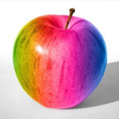 картинки радужного яблока мансардой