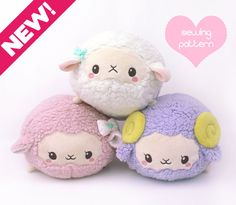 PDF sewing pattern - Sheep Roll plush stacking loaf plushie with video - easy…