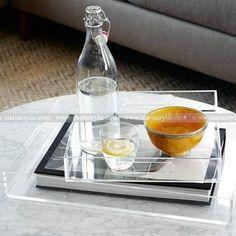Clear Acrylic Serving Trays ,Home Storage Organization Storage Acrylic Trays