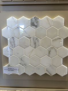 Hex Carrara marble mosaic from Olympia Tile. Marble Mosaic, Carrara Marble, Olympia Tile, Tile Showers, Master Bathroom, Toilet Tiles, Master Bathrooms, Master Bedrooms, Bedroom