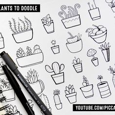 New video in 30 Things to Doodle series ~ 30 Plants to Doodle  Watch on YouTube  www.youtube.com/piccandle  Or go to bit.ly/doodlePlants  Do you like '30 Things to Doodle' series?