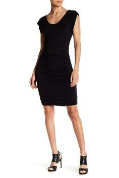 Ruched Knit Bodycon Dress