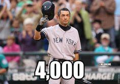 Ichiro Suzuki. 4000 hits for his proffesional career in both Major League Baseball and Nippon Professional Baseball League.