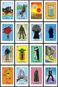 The Tex[t]-Mex Galleryblog: Star Wars/Loteria Xicanosmosis!!!!