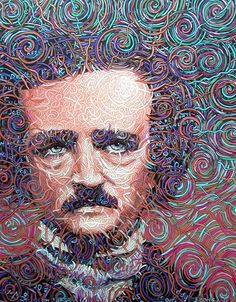 painting by Jack Morefield Edgar Allan Poe, Fable, Short Stories, True Stories, Allen Poe, Extraordinary People, Happy Art, Phase 2, Oeuvres