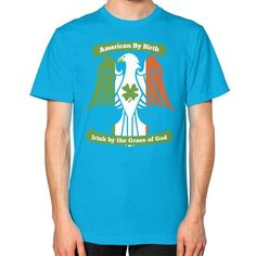Irish by the grace of god Unisex T-Shirt (on man)