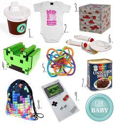 Nerdy Items für Geek Kids // Geek Baby Stuff