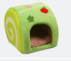 Cute small pet  house dog cat house от juliapethome на Etsy