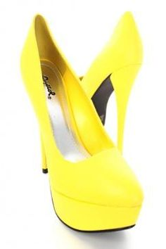 Bright Yellow Shoe! SZ 8