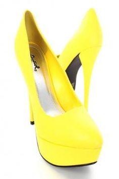 Bright Yellow Shoe! SZ 8