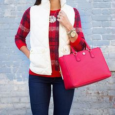 Don't forget that this plaid sweater {perfect for the upcoming holidays} is over 60% off! // Shop all outfit details via @liketoknow.it  www.liketk.it/1VLsk #liketkit #asoutherndrawl #plaid #LTKunder50 #LTKsalealert #sale #salealert #fallstyle #fallready