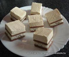 Kókuszos szelet Hungarian Cake, Hungarian Recipes, Easy Desserts, Dessert Recipes, Pastry Cake, Ice Cream Recipes, Winter Food, Cakes And More, Chocolate Recipes