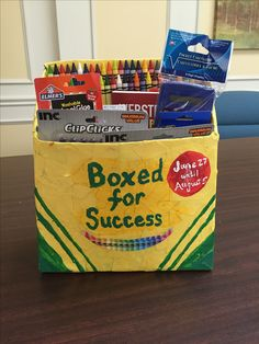 Back2school supply box for donations craft recipe for Where to donate craft supplies