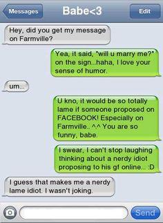 Marriage Proposal Fail