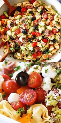 Easy Pasta Recipes, Healthy Salad Recipes, Easy Healthy Dinners, Healthy Chicken Recipes, Lunch Recipes, Salad Recipes For Dinner, Vegetarian Recipes, Food For Potluck, Recipes For Potluck