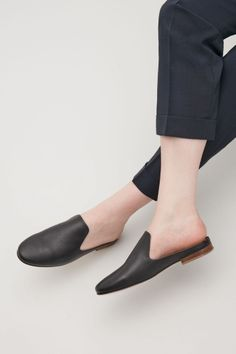 COS Slip-on leather loafers in Black