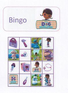 Doc McStuffins Toddler Bingo