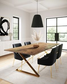 Dinning Room Tables, Wooden Dining Tables, Modern Dining Table, Dining Table In Kitchen, Black Dining Room Table, Wooden Dining Table Designs, World Market Dining Table, Daining Table, Natural Wood Dining Table