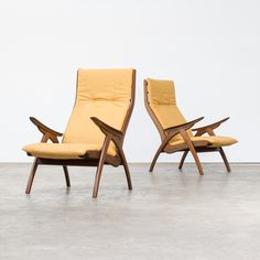Pair of Rob Parry lounge chairs for De Ster Gelderland, 1960s