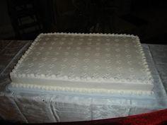 Ribbon wedding sheet cake | Wedding Cakes I\'ve Made :) | Pinterest ...