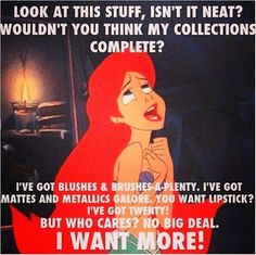 And that's how kids have gotten so selfish! Haha thanks little mermaid
