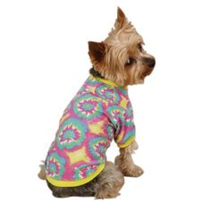 Starburst Tie Dye Dog Tee Apparel in Yellow *** Tried it! Love it! Click the image. : Dog shirts