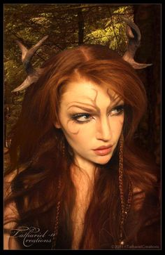 Woodland Faun by *TatharielCreations. just really like the faint face markings.