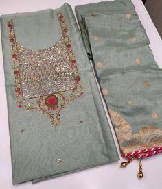 Salwar Designs, Kurti Designs Party Wear, Blouse Designs, Embroidery Suits Design, Embroidery Dress, Embroidery Designs, Diy Bra, Bra Pattern, Silk Dupatta