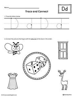 beginning sounds worksheets trace and paste. Black Bedroom Furniture Sets. Home Design Ideas