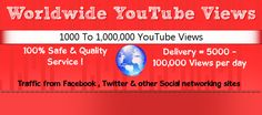 Buy YouTube Views as low as 0.79 $ per 1000 Views | All Our viewers are from facebook , twitter & other Social networking sites ! ( 100% Safe & organic YouTube Views )  http://www.socialfansgeek.com/providing-100-safe-youtube-views/