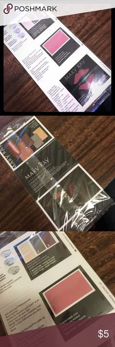 MARY KAY color cards - berries 6 copies of the BERRIES Mary Kay color card.  Includes samples of 3 eye shadow colors (moonstone, silver satin, and sweet plum), mineral cheek color bold berry, and creme lipstick whipped berries. Mary Kay Makeup