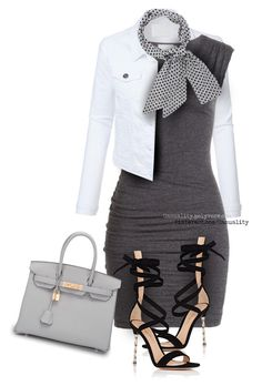 Untitled #1719 by casuality on Polyvore featuring Velvet, LE3NO, Gianvito Rossi, Hermès and Trilogy