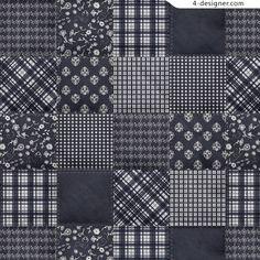 Dark plaid cloth style pattern material