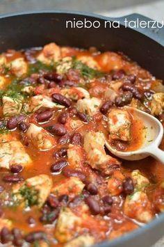szybki kurczak w pomidorach z fasolą Healthy Meal Prep, Healthy Recipes, I Love Food, Good Food, Sandwiches, Tasty Dishes, Indian Food Recipes, Food Inspiration, Appetizer Recipes