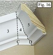 how to cut 52 degree crown molding