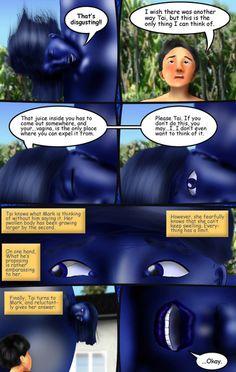 Beach Blanket Blueberry: by uruseiranma - Violet Beauregarde Fan Site Blueberry Girl, Rubber Catsuit, Beach Blanket, Random Things, Magic, Fan, My Love, Beach Towel, Random Stuff