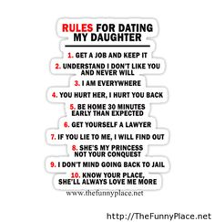 Dads Rules For Dating My Daughter