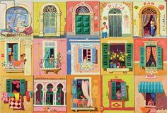 Leon Morrocco - Paintings of Archways, Doors and Windows, 2003 (oil on panel)