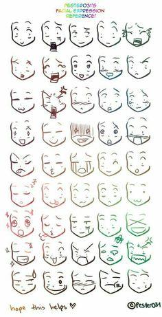 reference on drawing chibi faces Anime/Manga expresiones.A reference on drawing chibi faces on drawing chibi faces Anime/Manga expresiones.A reference on drawing chibi faces Anime/Manga expresiones. Drawing Face Expressions, Drawing Expressions, Drawing Faces, Chibi Drawing, Anime Faces Expressions, Simple Face Drawing, Chibi Sketch, Anime Sketch, Anime Face Drawing