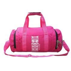 Large Mens Sports Bags For Traveling Training Fitness Gym bag Waterproof Duffel  Bag Pink Shoulder Bag d400c5a700eb7