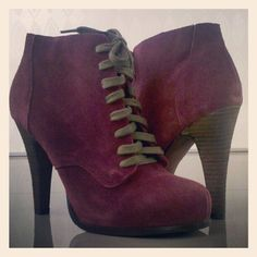 Cutie Booties - Coming Soon from Restricted #suede #bootie #laceup