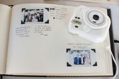 instant camera scrapbook guestbook