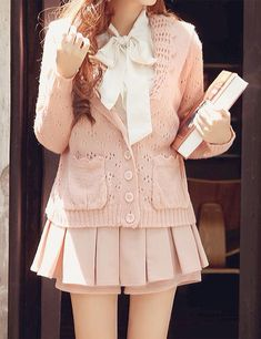 Cute Pastel Pink School Uniform